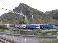 旧型車両を静態保存している「碓氷峠鉄道文化むら」は横川駅より徒歩5分