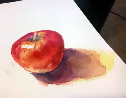 """Apple"" Watercolour painting by Elaine Chen 