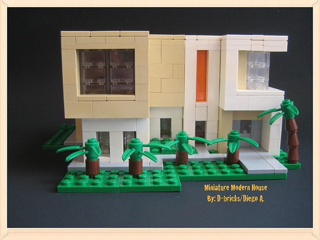 Miniature modern house by d bricks