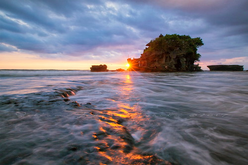tanah lot bali denpasar indonesia outdoors sky wave beach sunset sunrise star water