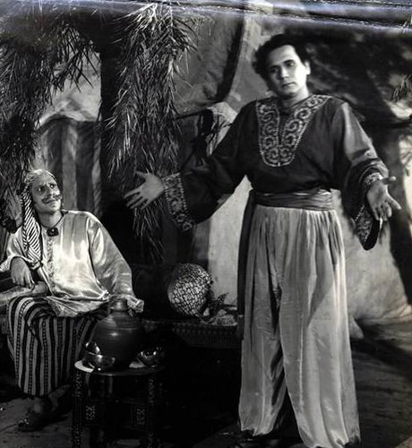 Nazir Kashmiri (Character Actor-Left) & John Craves in Zimbo-1958