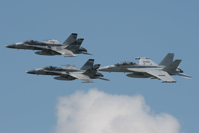 VFA-204 River Rattlers FA-18A+ & EF-18G Growler VAQ-209