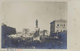 Inaugurazione del monumento a F. Crispi