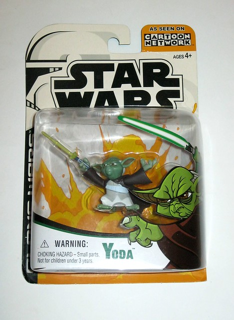 yoda star wars the clone wars micro series basic action figures hasbro 2003 mosc a