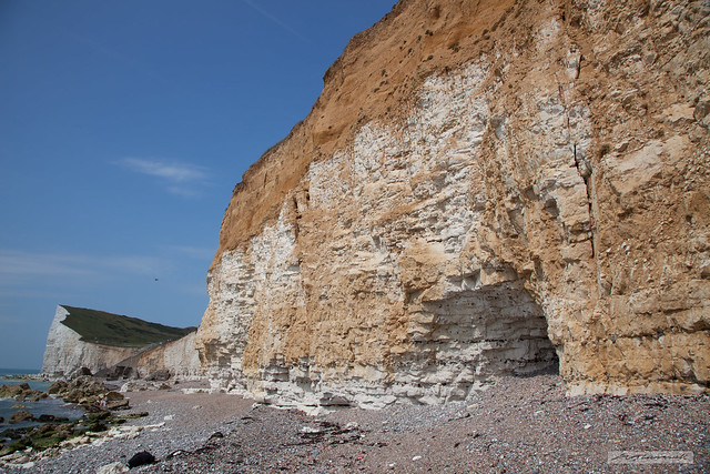 Cliffs near Hope Gap and Cuckmere Haven, East Sussex.