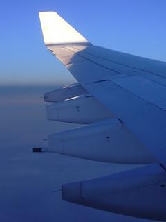Morgenerwachen beim Rückflug über Zypern, LH-A332