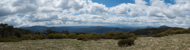 Pano of Victorian Alps from Craig's Hut.