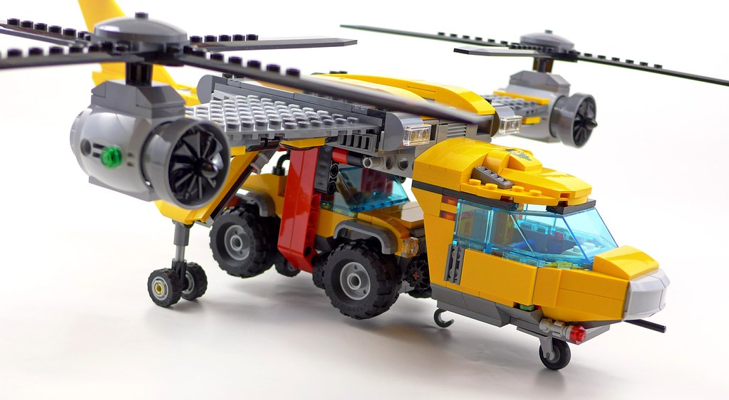 Lego City Jungle 60162 Jungle Air Drop Helicopter 124 Flickr
