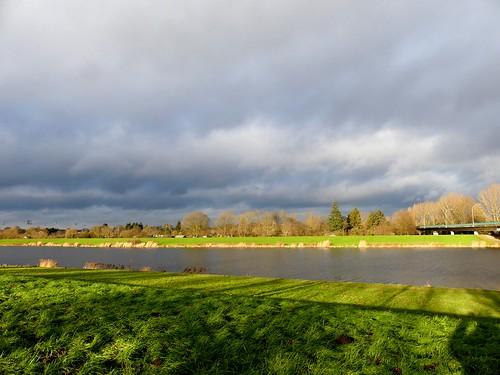 bremen germany sky himmel wolken clouds sonne sun light licht farben colors colours landschaft landscape wasser water