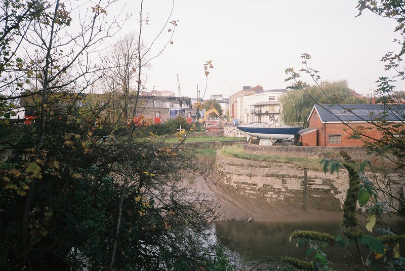 Where the Avon used to join the Floating Harbour, at Bathurst Basin