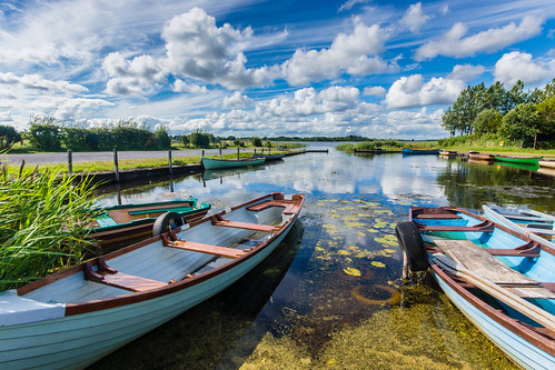 lough oflynn roscommon ireland ballinlough west countryside lake sky clouds blue green boats freshwater fishing
