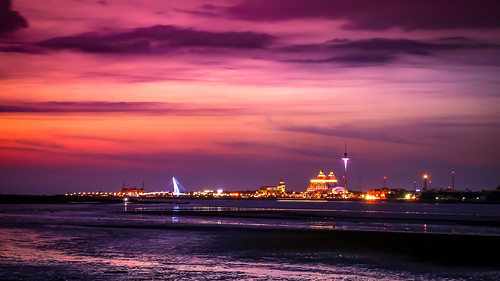 sunset clouds cloudy sky color light sea shore coast taiwan taipei tamsui dya palette 八里 漁人碼頭 關渡 淡水 bali rainbow ocean bridge wharf fisher lover ebb flow night park asia 亞洲