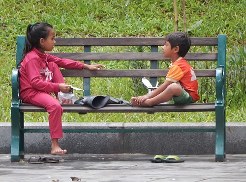 Children on Bench | by mikecogh