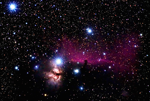 The Horsehead and Flame