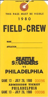Sounders field pass, 1980