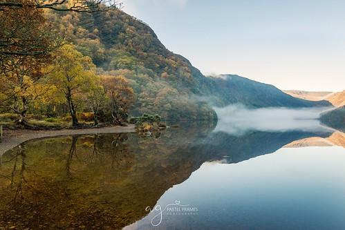 glendaloughnationalpark irlenad morning mist travel landscapephotography photography canon5dmark3 upperlake autumn leafs
