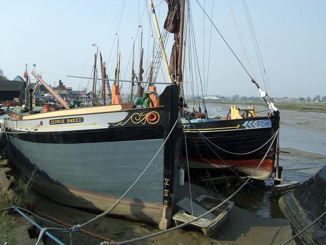 Thames Sailing barges at Maldon