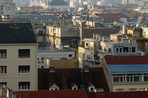 zagreb roof window crowded building architecture city cityscape town lines red croatia canon powershot g15