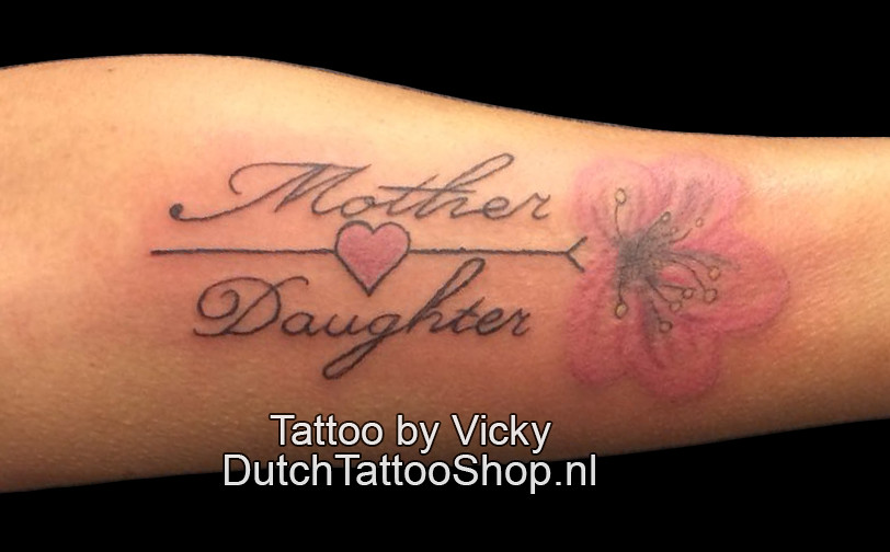 Bloem Moeder Dochter Tattoo Mother Daughter Dutch Tattoo