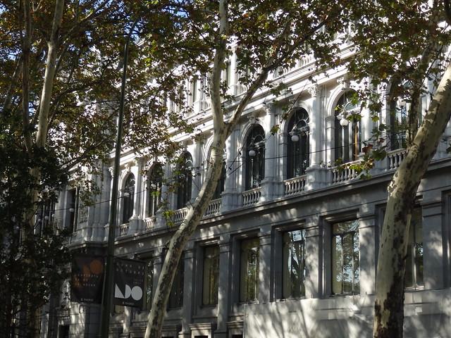 Buildings along the Paseo de Recoletos