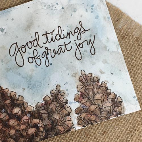 Good tidings of great joy - Christmas card   by Kimberly Toney