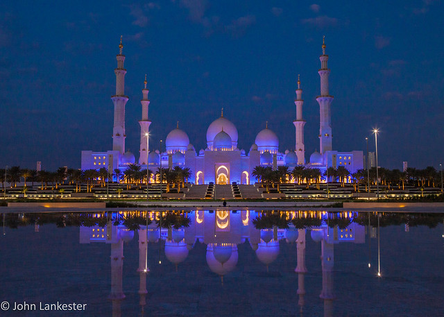 Reflecting on Sheikh Zayed grand mosque