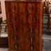 Dark wood 5 drawer chest E125