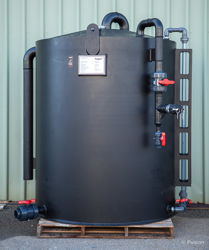 [PW3458-A] Fusion Fabricated PE Sodium Hypochlorite Storage Tank with Asahi Valves | by Fusion Australia
