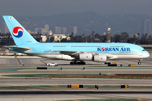 koreanair kal ke airbus a380 airbusa380 aircraft airplane airport plane planespotting losangeles klax lax hl7613 skyteam canon 7d 100400