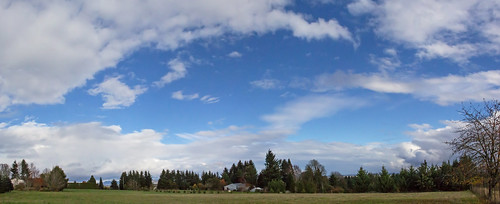 walnuthill sky blue greenfields clouds panorama trees nature oregon