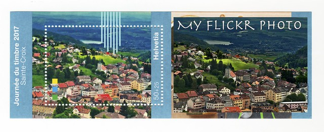 My Flickr photo on a  Swiss stamp .