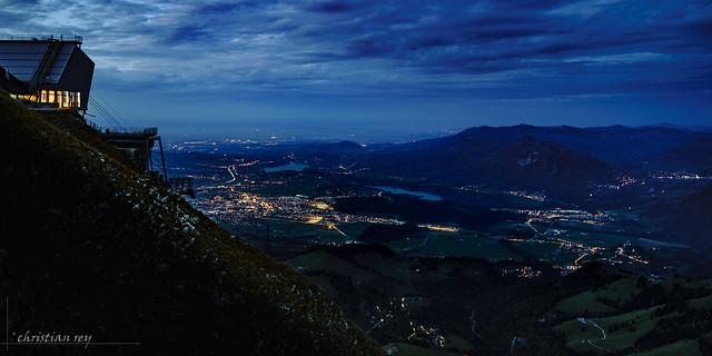 La Gruyère à l'heure bleue depuis le Moléson (Switzerland)