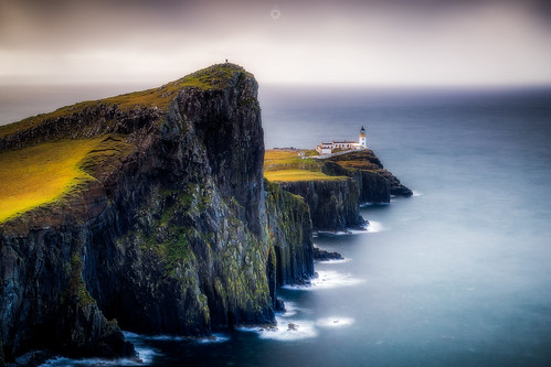 neistpoint lighthouse isleofskye scotland storm waves cliffs water island leefilters hebrides canon rocks longexposure clouds unitedkingdom gb