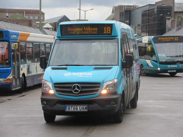 Arriva Surrey 1001 BT66UAM On Route 18 At Guildford Bus Station