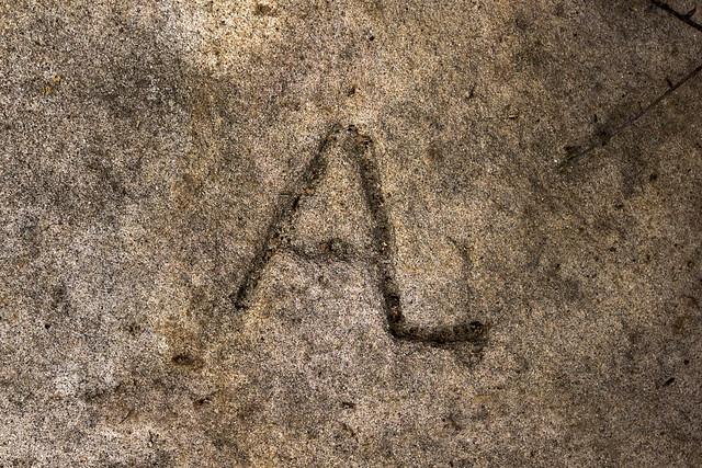 AL symbol, Historic signature, Pleasant Hill, Cumberland County, Tennessee