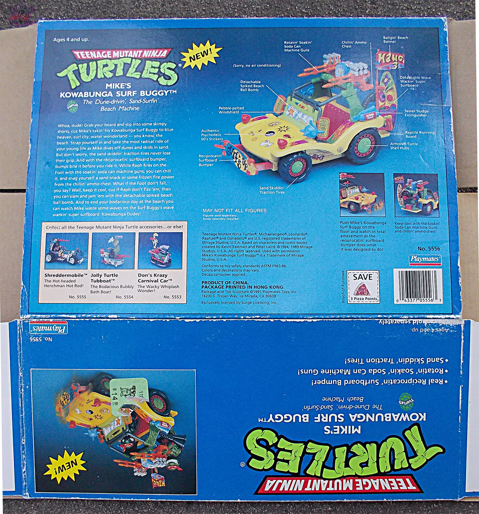 TEENAGE MUTANT NINJA TURTLES :: MIKE'S KOWABUNGA SURF BUGGY ..box iii (( 1991 )) by tOkKa