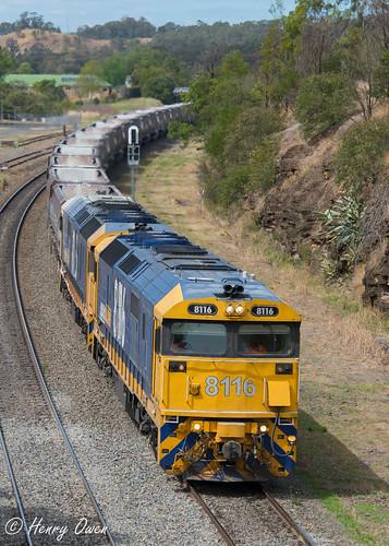 8116 8165 81class emd diesel clyde pacificnational pn 1225 picton stonetrain freighttrain