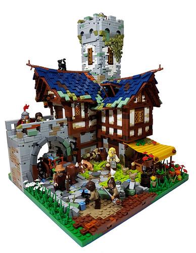 LEGO MOC Medieval Village - Road Construction