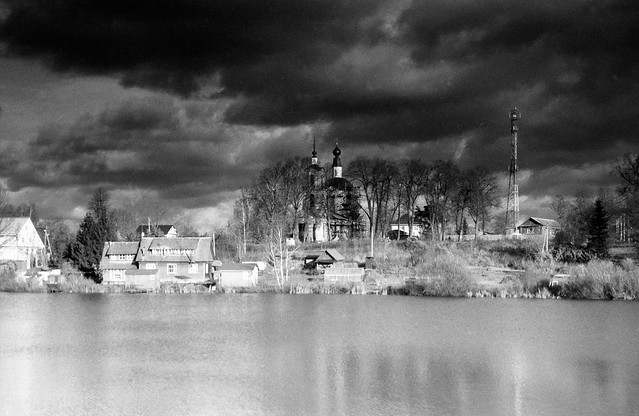 «Autumn Landscape with the Sorrow of the Church» (noir version)