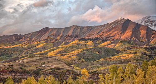 colorado mountainvillage sunset telluride mountains aspens scenic landscape clouds sky outside trips unitedstates us ngc