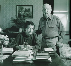 Ruth and Alec Baxendale at home, c 2005.