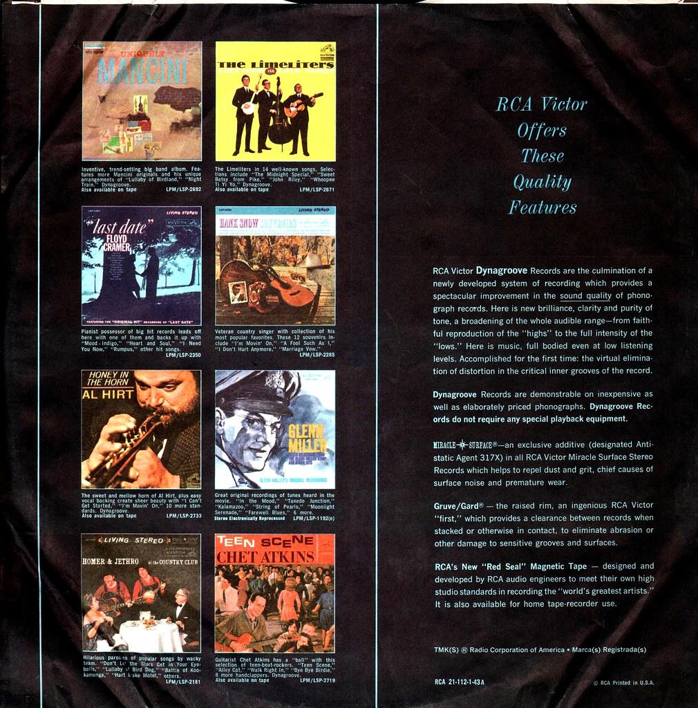 RCA - Inner Album Factory Sleeve - US - 1962- | Klaus Hiltscher | Flickr