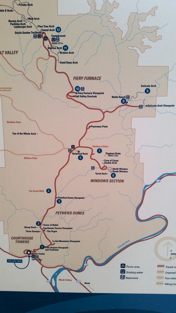 Arches National Park Map   The visitor center was not open w ...