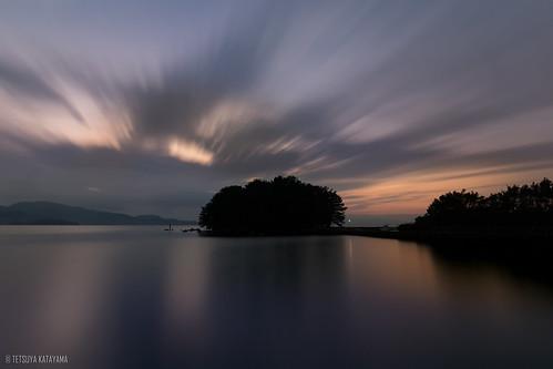 japan nagasaki omura island sea sunset cloud sky nature