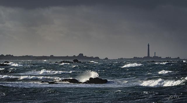 Le Curnic, grand vent de nord-ouest