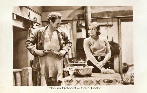 Greta Garbo and Charles Bickford in Anna Christie, 1930