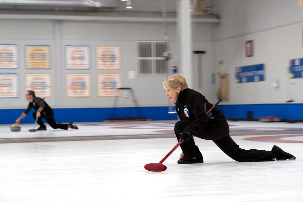 woman curling