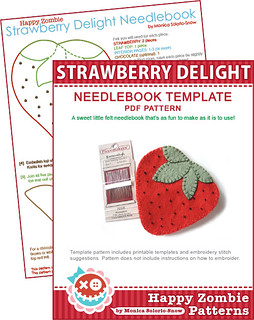 Strawberry Delight - needlebook template PDF | by Happy Zombie