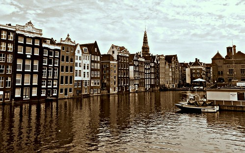 holland reflection netherlands monochrome amsterdam june sepia architecture clouds 365 iphone project365 365days amsterdamcentre 365daysproject 329365 iphoneography