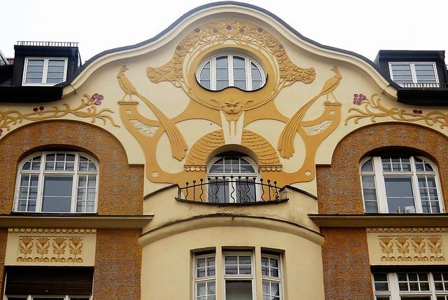 Jugendstil / Art Nouveau architecture details in Munich-Bogenhausen [Explore 07/02/2017]
